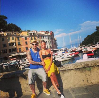 Toujours à Portofino, avec son mari cette fois !