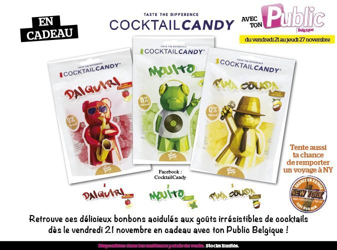 Public Belgique et Cocktail Candy : ça va pétiller dans nos petites bouches !