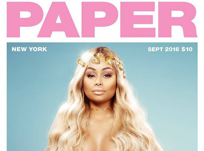 Blac Chyna enceinte, elle pose complètement nue pour Paper !