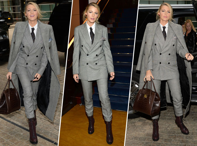 Blake Lively : total look imprimé Prince de Galles... On adore !