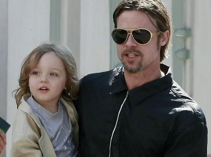 Brad Pitt : au parc avec Knox et Vivienne, c'est un vrai papa poule !