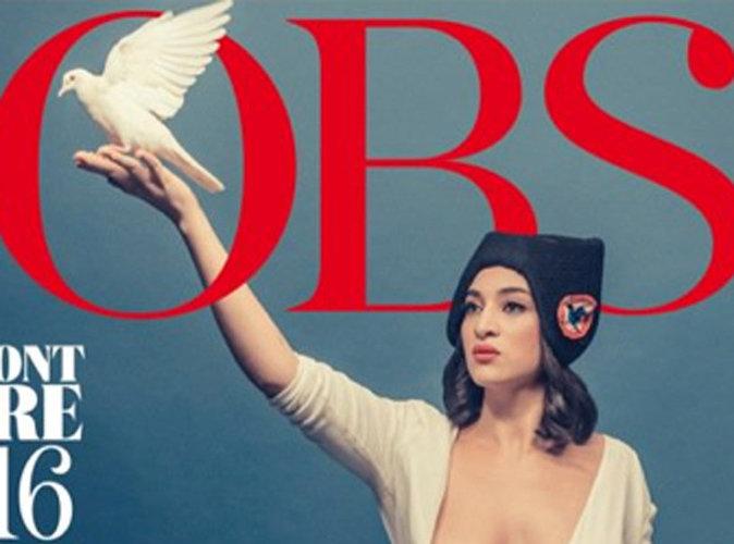 Camélia Jordana : Marianne aux seins nus en Une de L'Obs !