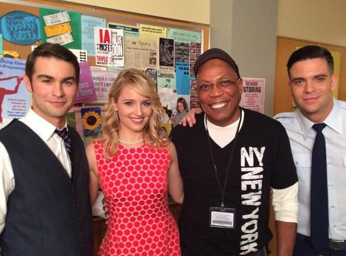 Chace Crawford : première photo du Gossip Boy sur le tournage de Glee !