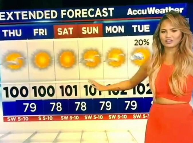 Chrissy Teigen : une miss météo lamentable !