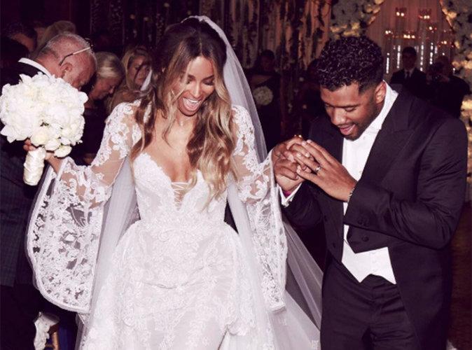 Ciara : Tous les détails sur sa somptueuse robe de mariée !