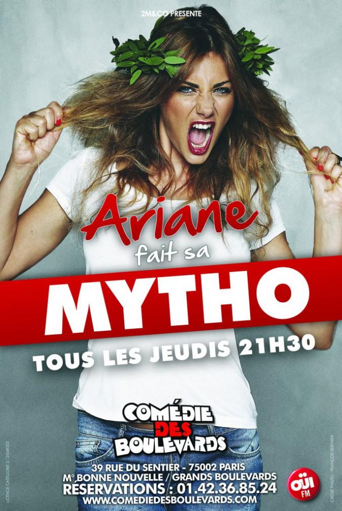 Ariane fait sa mytho, à la Comédie des Boulevards, jusqu'au 3 janvier, du jeudi au samedi. Promo 16 € sur fnacspectacles.com
