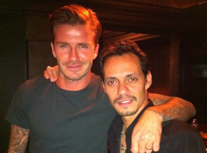 David Beckham : son nouveau pote s'appelle Marc Anthony !