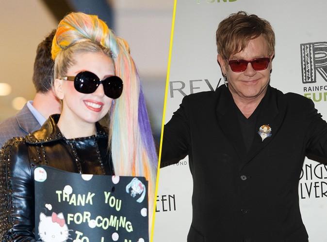 "Elton John : ""je m'inquiète pour Lady Gaga !"""