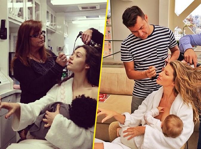 Emmy Rossum : elle imite la super-maman multitâche Gisele Bündchen !