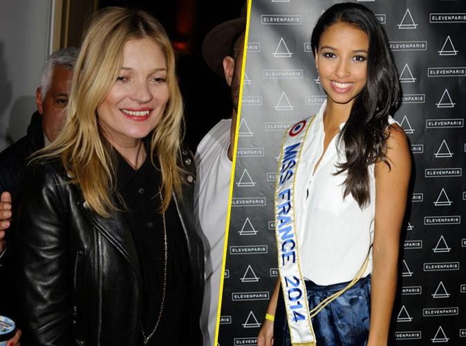 """Flora Coquerel : Miss France 2014 est """"déçue"""" par Kate Moss qui l'a ignorée !"""