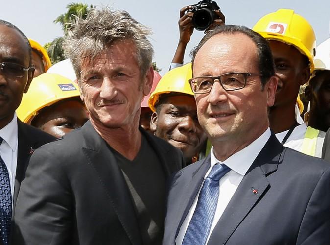 François Hollande : il croise Sean Penn et le ramène en avion présidentiel !