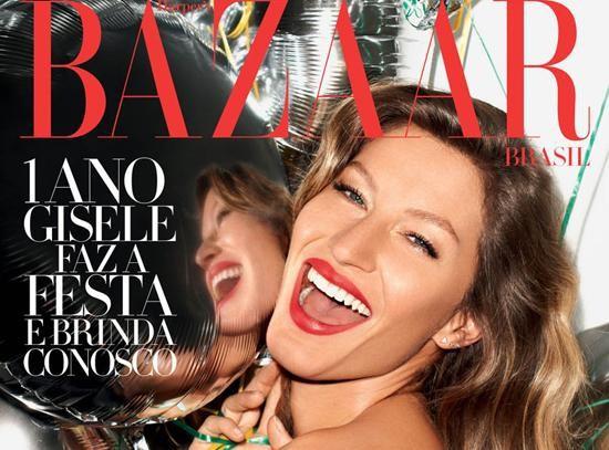 Gisele Bündchen : éclatante de beauté pour célébrer les un an du Harper's Bazaar Brésil !