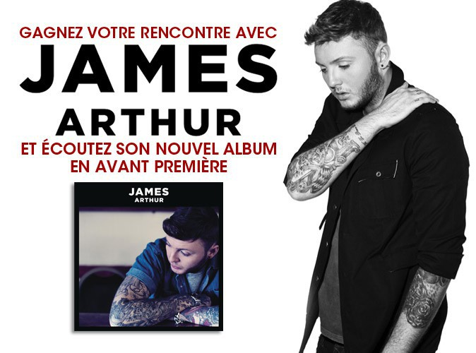 Grand jeu-concours : gagnez vos places pour rencontrer James Arthur à Paris !