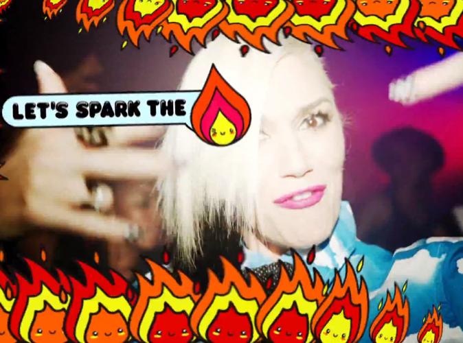 Gwen Stefani : survoltée et animée pour son clip avec Pharrell Williams !