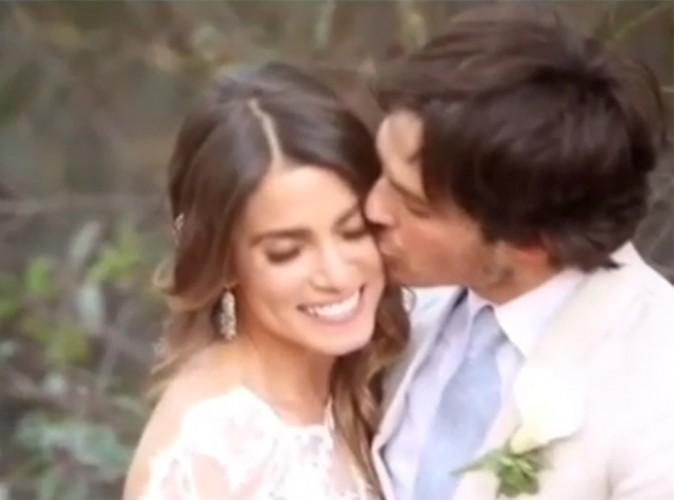 Ian Somerhalder et Nikki Reed dévoilent une vidéo de leur merveilleux mariage !