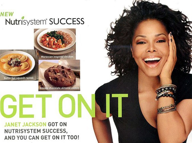 Janet Jackson : nouvelle ambassadrice du programme minceur de Nutrisystem !