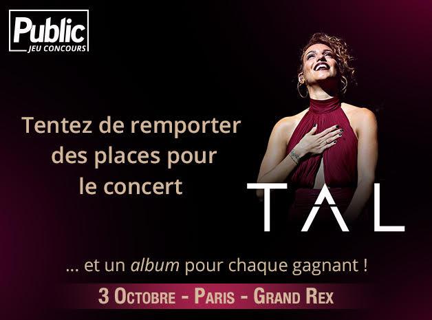 Jeu Concours : Gagnez vos places pour le concert de Tal au Grand Rex !