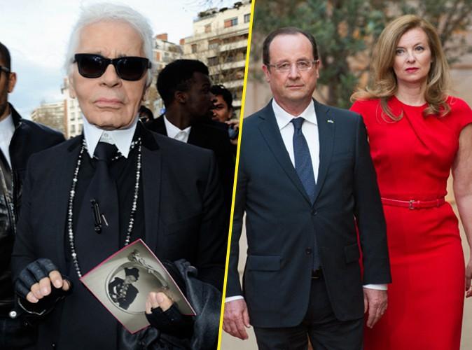 Karl Lagerfeld : il critique François Hollande et défend Valérie Trierweiler !