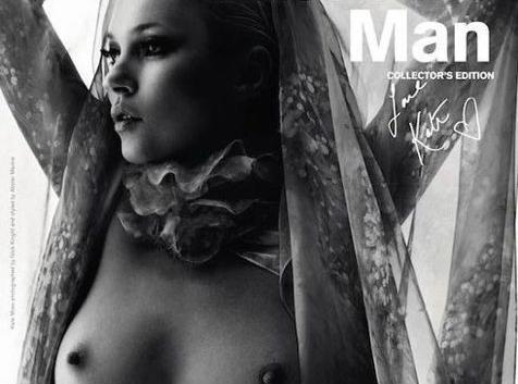 Kate Moss débordante de sensualité et à la pointe de l'érotisme chic juste pour Another Man...