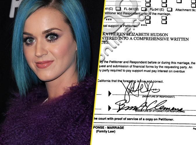 Katy Perry : elle signe les papiers du divorce avec un smiley…