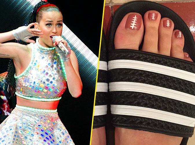 Katy Perry : préparation pour le Super Bowl jusqu'au bout des ongles... de pieds !