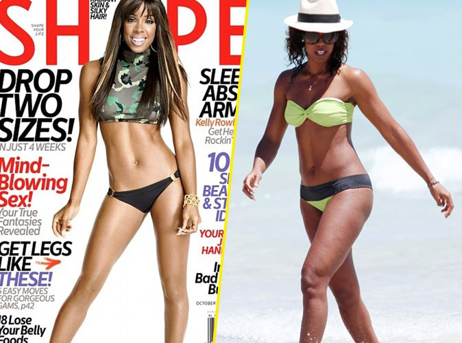 Kelly Rowland : elle affiche un corps parfait en couverture du magazine Shape… merci Photoshop !
