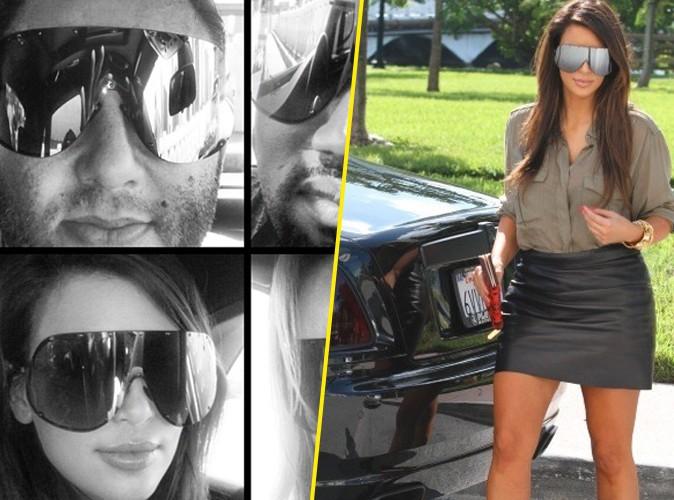 Kim Kardashian : fière de ses nouvelles lunettes de soleil (un peu grosses) !