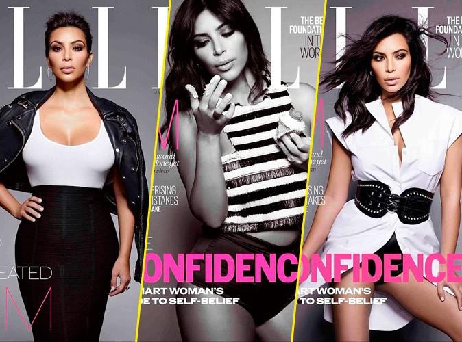 Kim Kardashian : gourmande et sensuelle pour le ELLE UK !