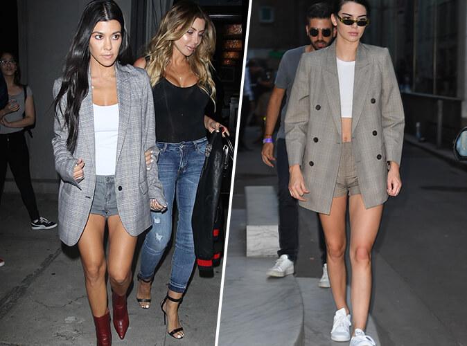 Kourtney Kardashian VS Kendall Jenner : qui porte le mieux le blazer oversize ?