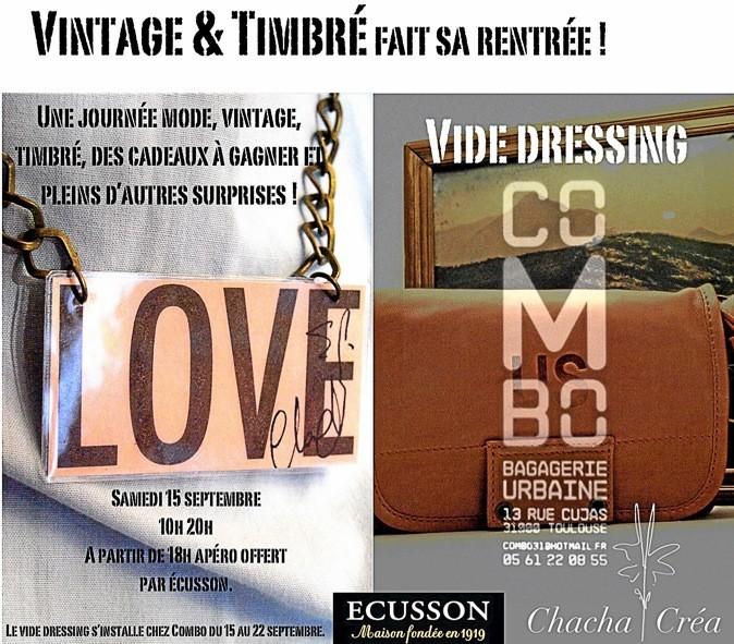 Du 15 au 22 septembre, rendezvous à Toulouse pour dénicher fringues accessoires à prix mini lors des journées Vintage & Timbré.