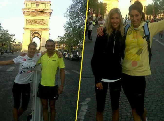 Laury Thilleman (Miss France 2011) au départ du Marathon de Paris avec Alexandra Rosenfeld !