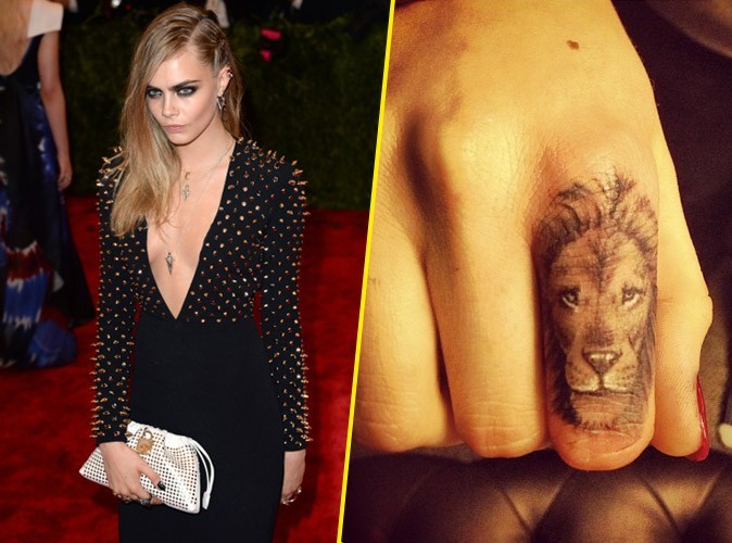 le nouveau tatouage de cara delevingne. Black Bedroom Furniture Sets. Home Design Ideas