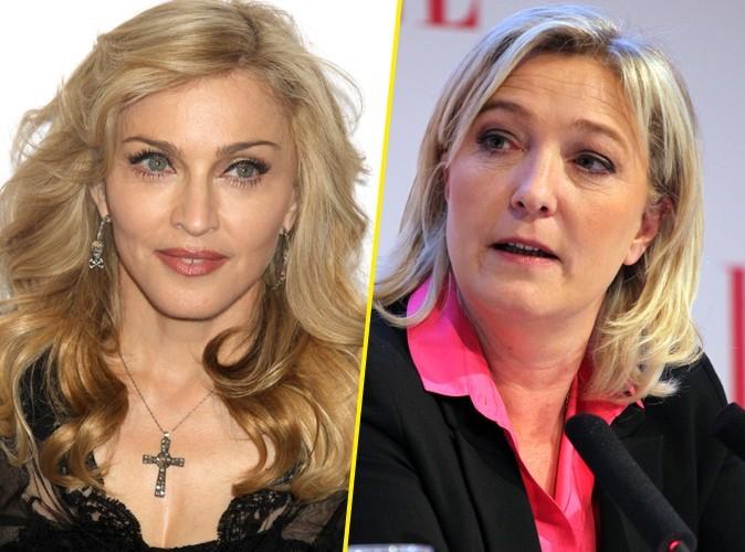 Madonna : elle va s'attirer les foudres de Marine Le Pen…