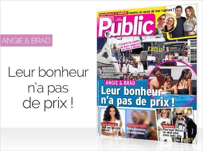 Magazine Public : Angie & Brad en couverture, leur bonheur n'a pas de prix !