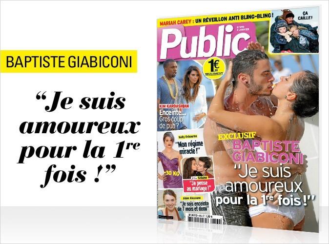 Magazine Public : Baptiste Giabiconi en couverture !