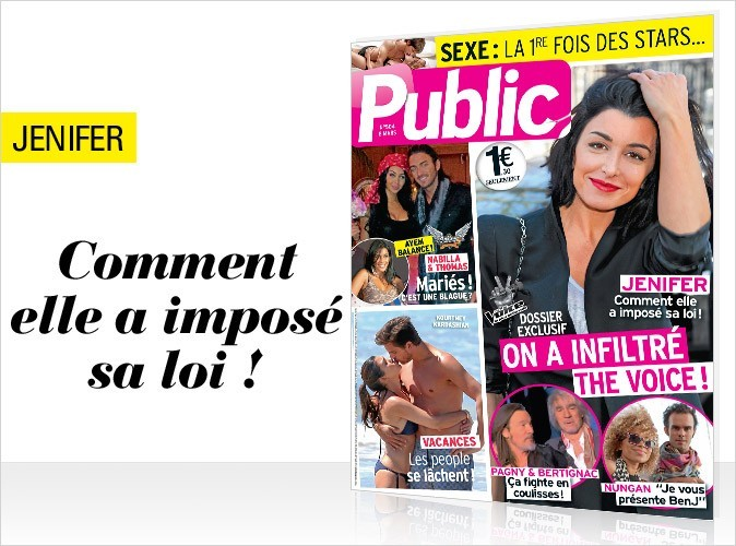 Magazine Public : Jenifer en couverture !