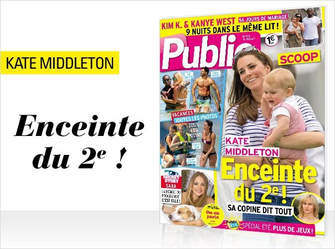Magazine Public : Kate Middleton en couverture... Elle est enceinte du 2e !