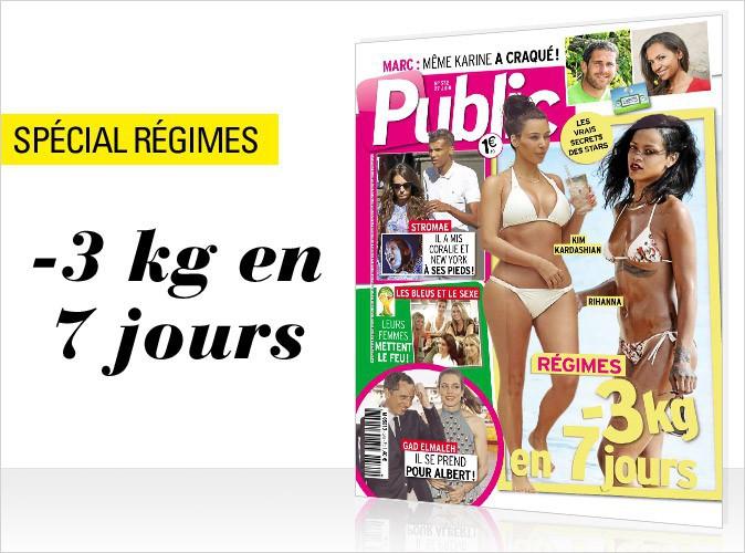 Magazine Public : Kim Kardashian et Rihanna : les régimes des stars en couverture !