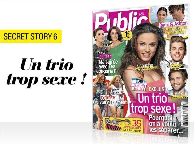 Magazine Public : le trio trop sexe de Secret Story 6 en couv !