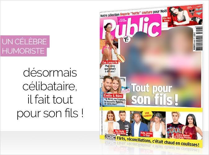 Magazine Public : Un célèbre humoriste désormais célibataire en couverture... Il fait tout pour son fils !