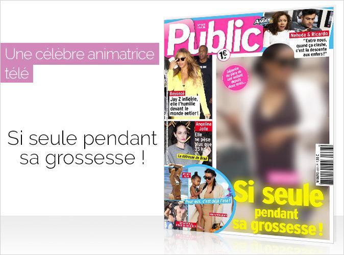 Magazine Public : Une célèbre animatrice télé : Si seule pendant sa grossesse !