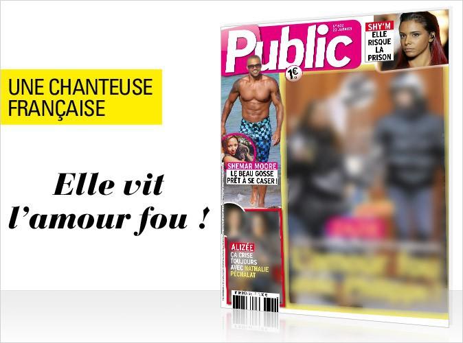 Magazine Public : Une célèbre chanteuse française en couverture... Elle vit l'amour fou !