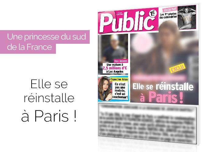 Magazine Public : Une célèbre princesse du sud se réinstalle à Paris !