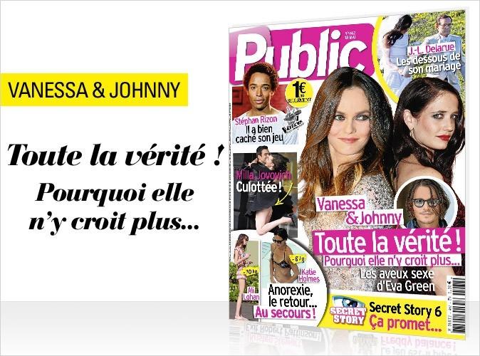 Magazine Public : Vanessa Paradis et Johnny Depp en couv !