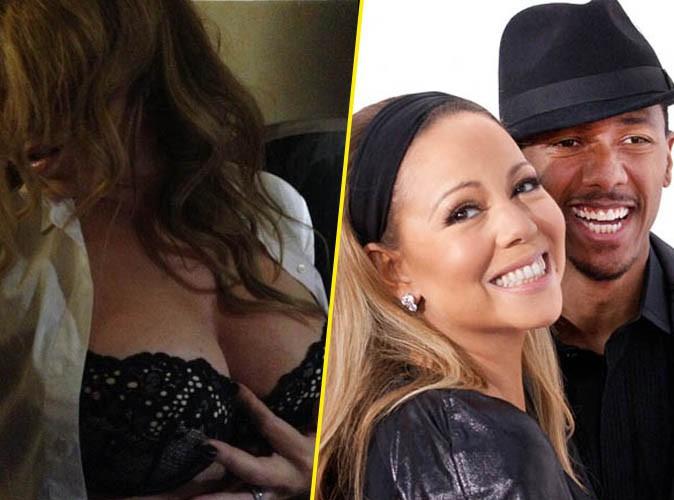 """Mariah Carey : toute poitrine dehors pour célébrer de façon """"hot"""" l'anniversaire de son mari..."""