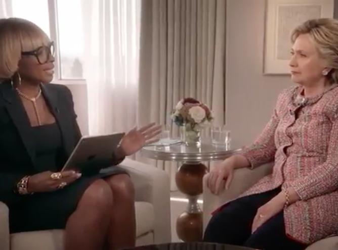 Mary J Blige Elle Interviewe Hilary Clinton Et Se Fait