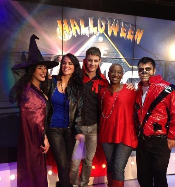 Matthieu Delormeau et Ayem : déguisés pour Halloween sur le plateau d'NRJ 12 !