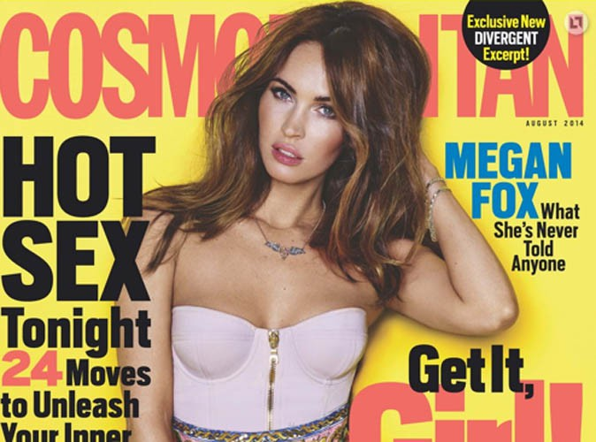 Megan Fox : Ultra sexy en couverture du magazine Cosmopolitan !