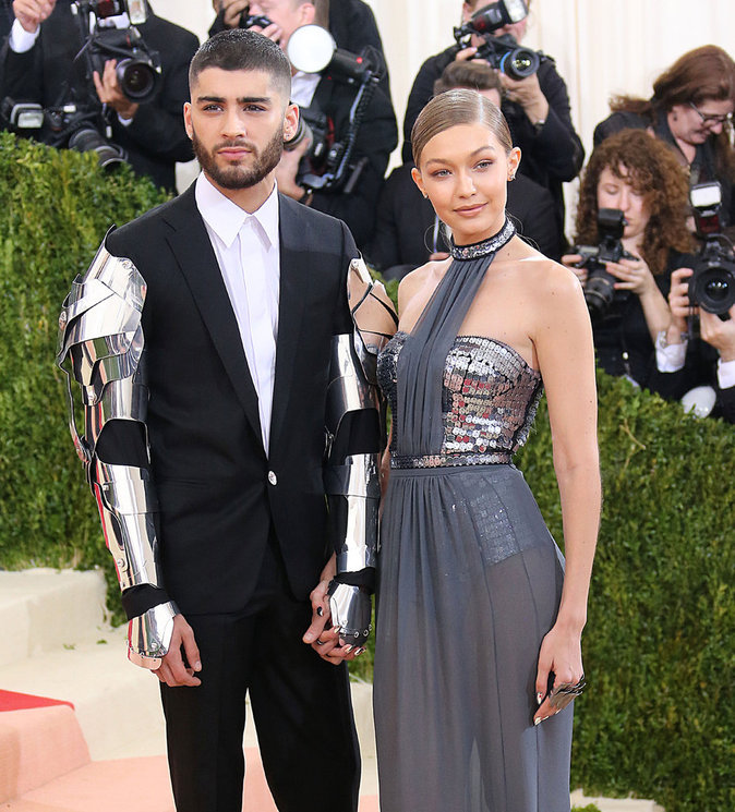 Met Gala 2016 : Gigi Hadid et Malilk Zayn au Metropolitan Museum of Art à New York