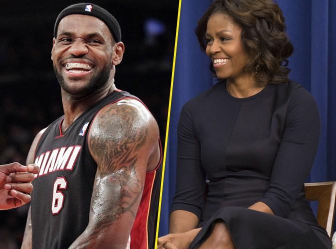Michelle Obama : face à Lebron James, elle ne rougit pas, bien au contraire !